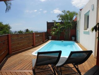 SAINT-LEU Villa individuelle classee 4 ETOILES avec piscine (chauffee)