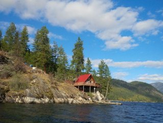 Christina Lake Waterfront Boat Access Only Cabin