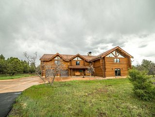 Epic 4700 sq. ft Log Home On 35 Acres Great Views of Mt. Sneffles and Cimarrons