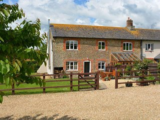 Dog friendly character stone cottage set in quiet countryside close to Bridport