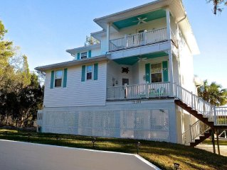 The Gulf Breeze Home with direct gulf access from your private dock.