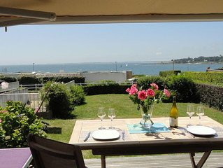 Superb T2 at garden 50m from the sea with magnificent ocean views