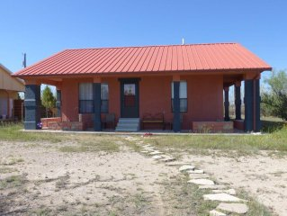 Rustic, unplugged bungalow perfect for exploring Big Bend area.