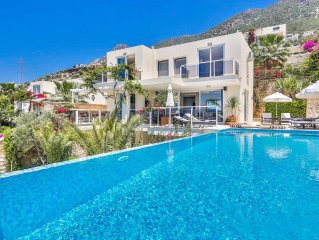 Villa With Own Large Pool And Outdoor Living Areas. Amazing Sea Views