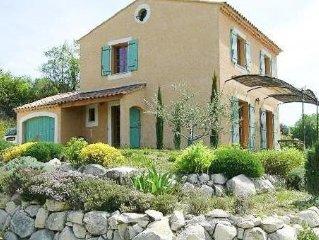 Maison provencale a Goult avec piscine, vue sur le Luberon, peut accueillir 5 p