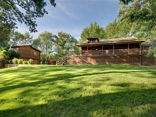 The ULTIMATE Finger Lakes rental! 2 cabins, 220 feet of lakefront. 6 BD, 4 BA