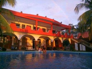 138US/Night Cozumel Ocean Front 2 Bedrooms Villa Beach Front Oceanfront Beachfro