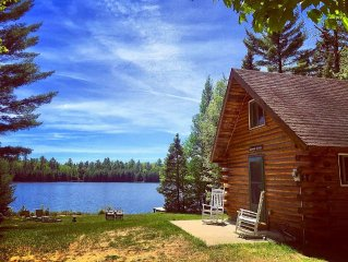 Log Cabin Rental! Quiet, Peaceful lakefront with great fishing! Dog Friendly