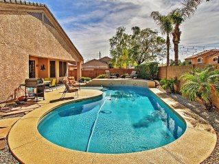 Quiet & Modern 3BR Peoria Ranch-Style House w/Wifi, Private Backyard Pool & Infr