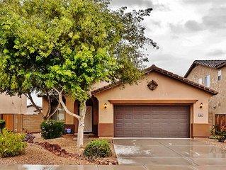 Modern & Spacious 3BR Maricopa House w/Beautiful Private Backyard & New Patio Se