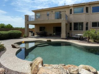 Stunning 3BR Maricopa House w/Wifi, Covered Deck, Private Backyard & Heated Outd