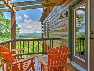 Secluded 3BR Morganton High Country Mountain Cabin w/180 Degree Views, Hot Tub,