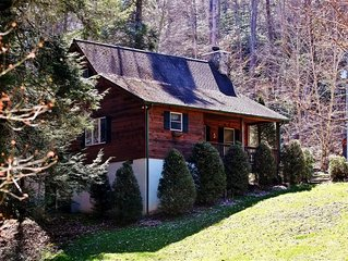 'Creek Melody' Wonderfully Rustic 2BR + Loft Valle Crucis Cabin w/Private Hot Tu