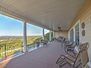 NEW! 5BR Branson Area Home w/Panoramic Lake Views!