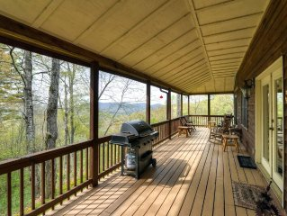 **Reduced Weekly Rates!! 'Catspaw Cabin' Dazzling 3BR Cullowhee House w/Wifi, Pr
