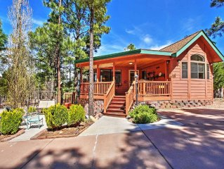 Terrific 1BR Show Low Cabin w/Spacious Deck & Access to Community Clubhouse! Enj