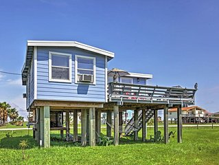 Charming 2BR Freeport Beach House w/Private Balcony and Propane Grill - Only 4 B