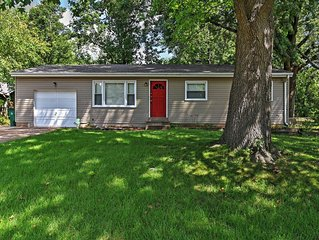 4BR St. Louis Home w/Large Backyard & Grill!