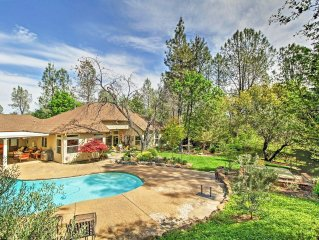 Serene 2BR Redding Home w/Private Pool, Hot Tub & Ballet Room - A Tranquil Retre