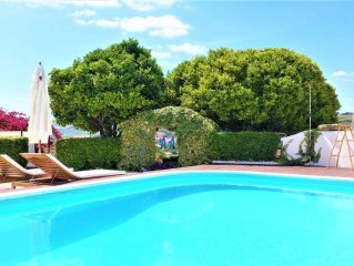Self contained studio with private swimming salt water pool, garden and BBQ.