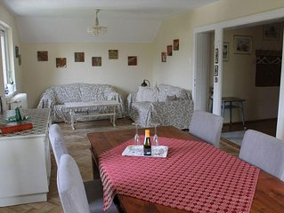 Spacious comfortable quiet apartm. 80m2, balcony, mountain view, parking, Wifi