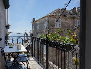 Charmante Maison de Village,avec Balcon, vue Mer, Pozzo-Brando (Haute Corse)