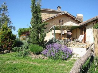Luxury gite for 5 in lovely farmhouse with great pool, in stunning surroundings
