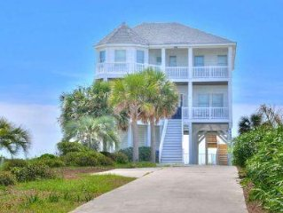 Beautiful 6 Bdrm/4 Bath Oceanfront,Home w/Private 38x15 Private Pool/Sleeps 12