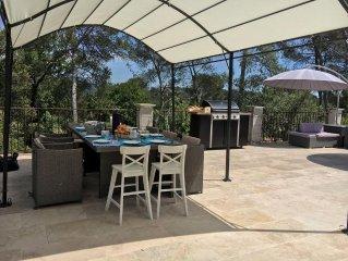 Villa provencale moderne avec piscine entre Cannes et Nice