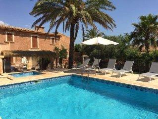 Casa de campo comfortable, espaciosa, con piscina y wifi gratis