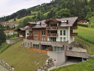 A spacious, luxury holiday home in the Saalbach/Hinterglemm ski-area.