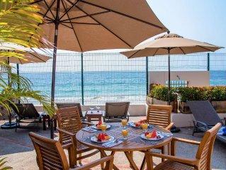 Fully staffed 7 Bedroom/8 bathroom Luxury Beachfront Villa on Sandy Beach