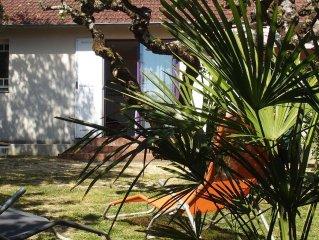 Pornic: Maison a 50m de la plage de la Birochere avec jardin prive arbore