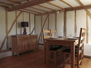 Views over open farmland ideally situated for exploring the Suffolk coast