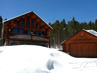 Custom Log Home - True Ski-in/Ski-Out - Secluded & Beautiful!