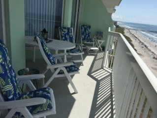 Discounted August wks, Awesome Cherry Grove Oceanfront Paradise Condo