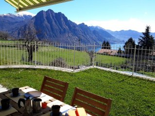 Casa Alessandra beautiful apartment with pool,  stunning lake and mountains view