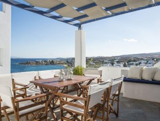 Dionysus home, 50 metres from Logaras beach, amazing view to the sea