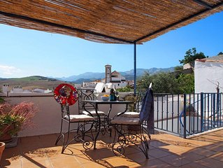 Village property with spectacular  roof terrace.