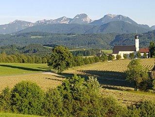 Freier Alpenblick, ruhig, Naturpool, hoch. ausgestattet, Holzofen, Natur, ****