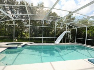 The most popular 4 Bedroom Pool Home with Water Slide!