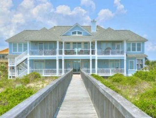 Most Beautiful Homes in Caswell Beach-7 Bdrm/7 Bath Oceanfront Home-Sleeps 23