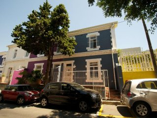 A spacious and luxurious two-bedroom house with balcony, courtyard and roof deck