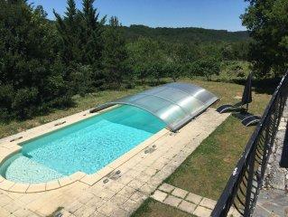 Belle maison, pas de voisins et jolie vue, 5 km (Castelnaud, Beynac, Domme)