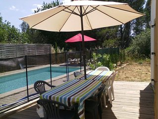 Villa neuve avec piscine prive et vue panoramique