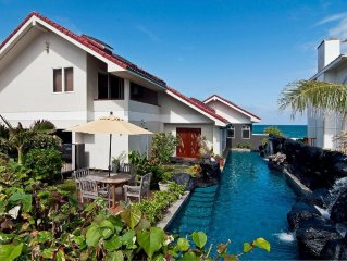 Absolutely Oceanfront Kailua - 60 Ft Waterfall Pool-$199 - Licensed