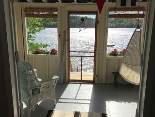 Vintage 1920's Lake Front Cottage on Beautiful Lake Hortonia in Central Vermont