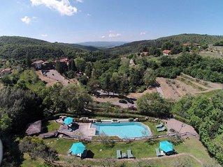 Struttura nel borgo medievale di Gello Biscardo con piscina e ristorante