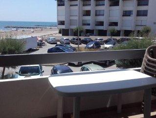 Appartement avec vue sur la mer, proche de la plage, 2 chambres, 6 couchages