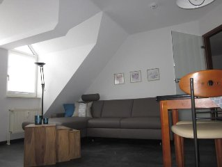 The cozy about 45 m2 Non smoking rental is equipped with 1 bedroom with double